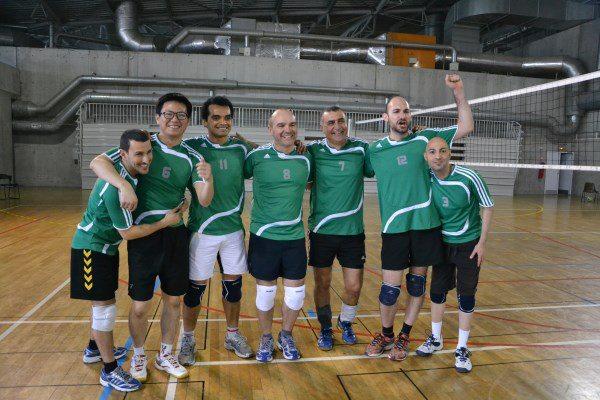 Notre equipe de volley, medaille de bronze a TIGALY 2013, Lyon, niveau C, a son premier tournoi !