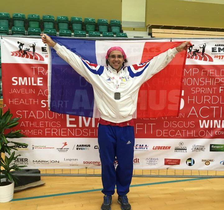 2 Médailles pour Marin aux Championnats d'Europe d'Athlétisme Masters !