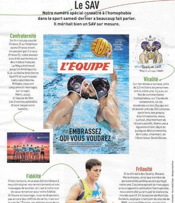 L'Equipe Edition Spéciale sur l'Homophobie dans le Sport